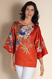 Women's Polynesian Pullover - ORANGE