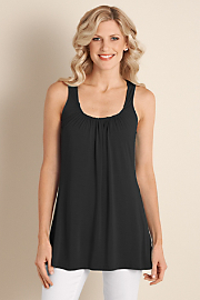 Women's Soft Drapey Tank - BLACK