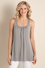 Women's Soft Drapey Tank - FLINT GREY