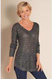 Women's Shimmer Sweater - CHARCOAL