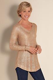 Women's Shimmer Sweater - GOLD