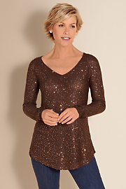 Women's Shimmer Sweater - BRONZE