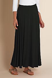 Women's Knit Skirt - BLACK