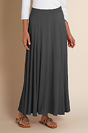 Women's Knit Skirt - GREY