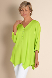 Women's Ravello Gauze Top - CHAMELEON GREEN