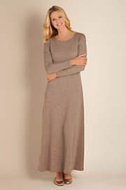 Women's Knit Weekend Dress - HEATHERED TAUPE