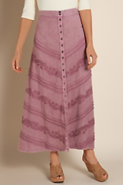 Women's Santa Fe Sandwashed Skirt - MAUVE