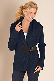 Women's Country Weekend Sweater - NAVY BLAZER