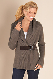 Women's Country Weekend Sweater - TAUPE