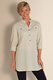 Women's Subtle Stripe Tunic - STONE