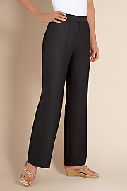 Women's Go-To Linen Pants - BLACK
