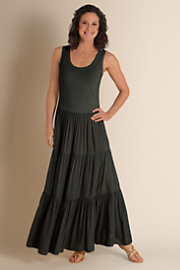 Women's Slimming Maxi Dress - BLACK