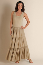 Women's Slimming Maxi Dress - BIRCH TAN