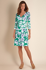 Long Sleeve Shapely Anywhere Dress  - EMERALD