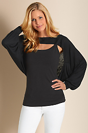 Women's Graceful Shrug - BLACK