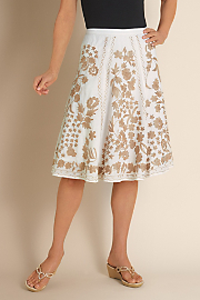 Women's Versailles Skirt - IVORY/GOLD