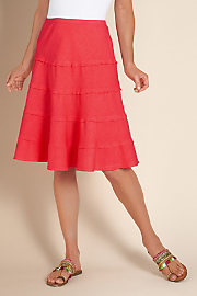 Women's Summer Fun Skirt - CORAL