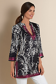 Women's Rolling Meadows Tunic - BLACK