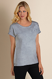 Women's Scroll Tee - DUSTY GREY