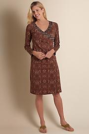 Women's Safari Surplice Dress - SAHARA SAND