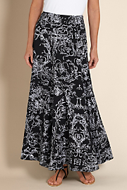 Women's Summer Breeze Skirt - BLACK/WHITE