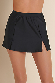 Women's Carol Wior Swim Skirt - BLACK