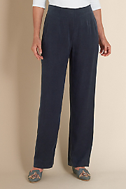 Women's Tencel Pull On Pants - DARK NAVY