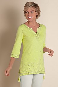 Womens Beaded Tunic