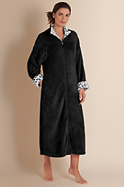 Women's At Ease Robe - BLACK
