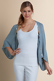 Women Sea Breeze Shrug - BLUE SLATE
