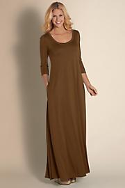 Women Santiago 3/4 Sleeve Dress - BURNT SIENNA