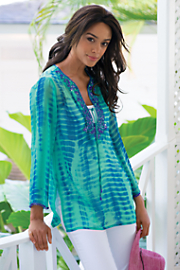 Women Cenote Tunic - BLUE GLASS