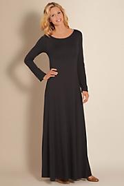 Women Santiago Boatneck Dress - BLACK