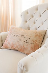 Coral Calling Card Pillow