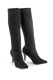 Pazzo Quilted Stretch Boot - Black
