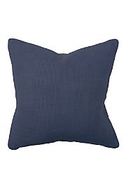 Willow Basket Weave Pillow - Blue