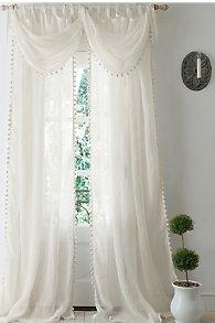 Pom Pom Linen Curtain