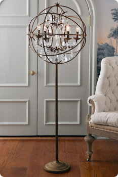 Iron sphere floor lamp for Sphere 5 light floor lamp
