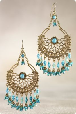 Patina Filigree Earring
