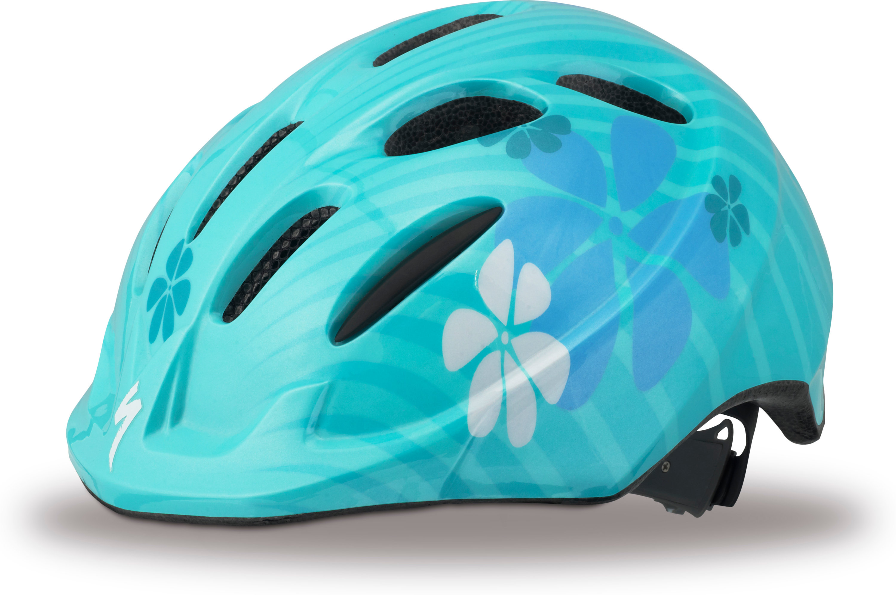 SPECIALIZED SMALL FRY HLMT CE TEAL FLOWERS CHLD - Alpha Bikes