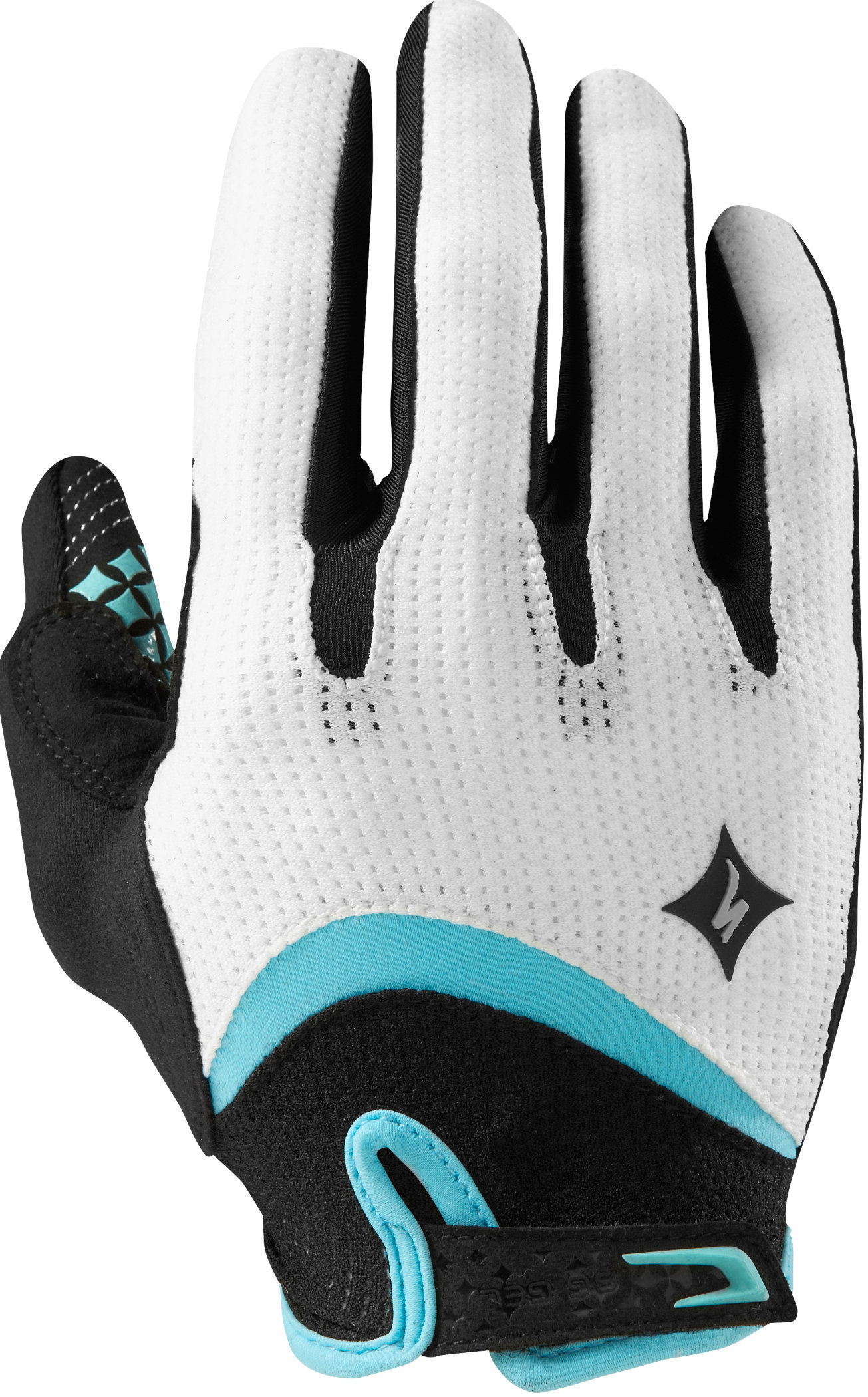 SPECIALIZED BG GEL GLOVE LF WMN WHT/LT TEAL S - Bikedreams & Dustbikes