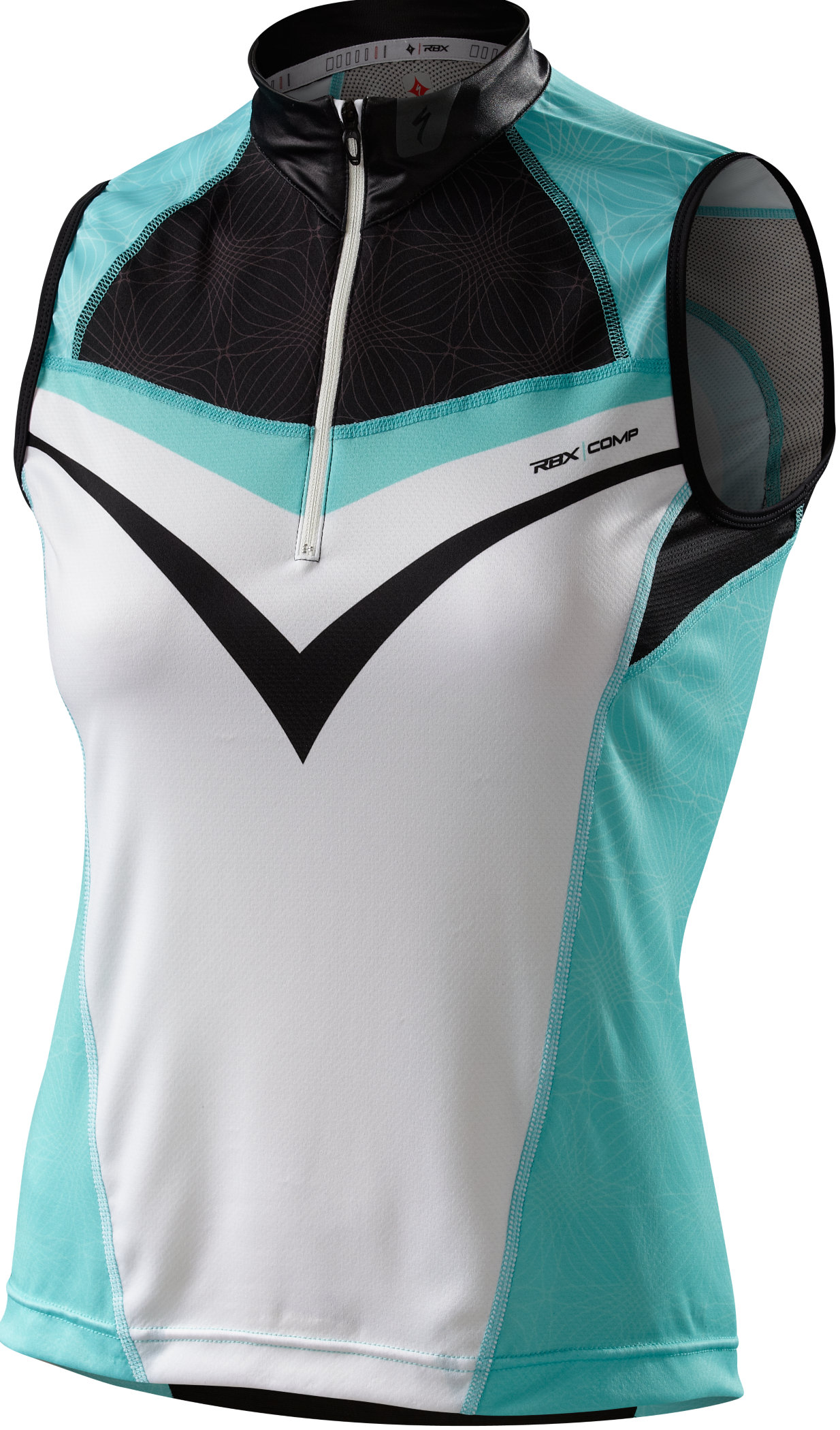 Specialized WOMEN´S RBX COMP TRIKOT OHNE ARM White/Light Teal Large - Alpha Bikes