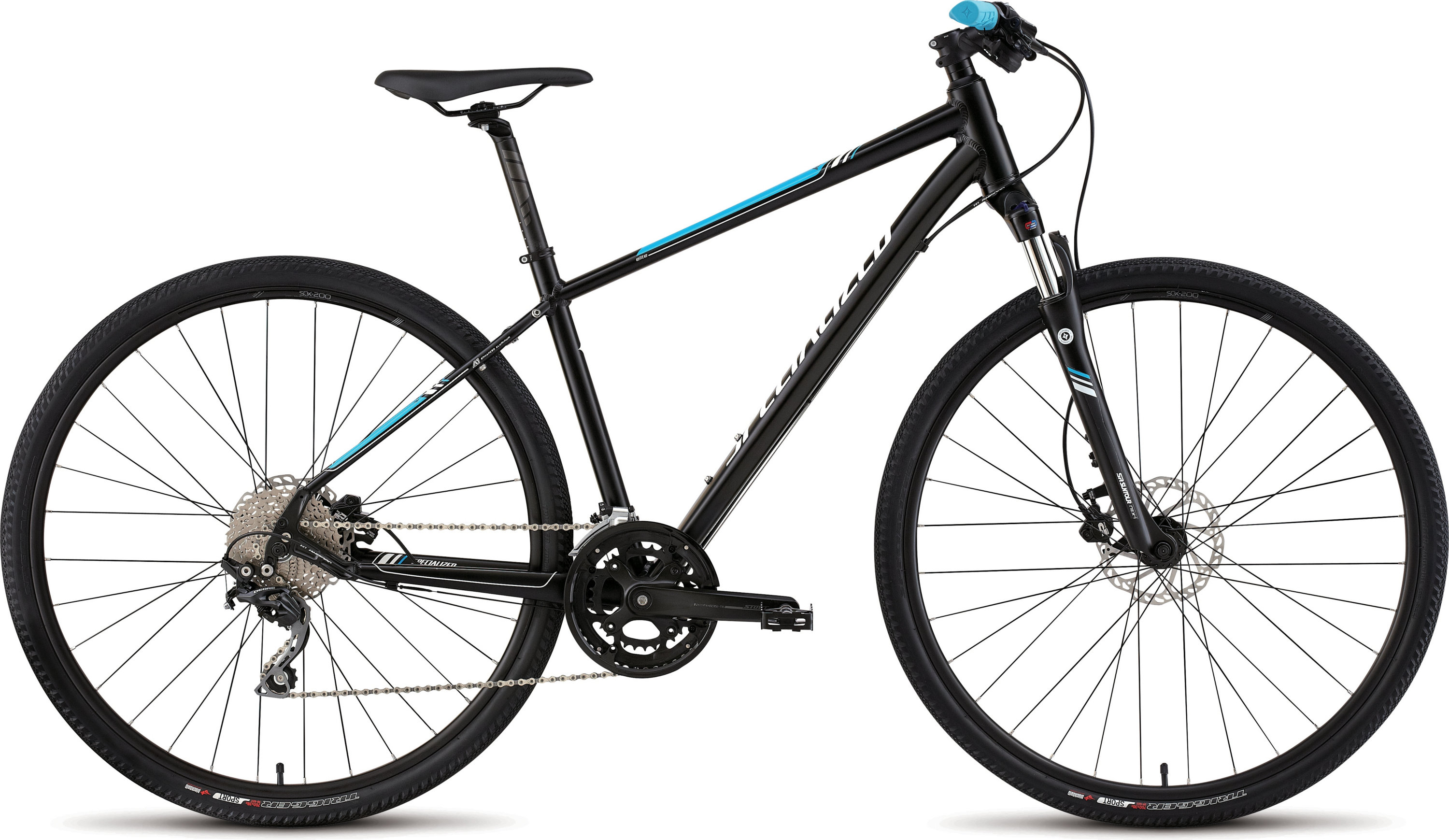 SPECIALIZED ARIEL ELITE DISC BLK/CYAN/WHT M - Alpha Bikes