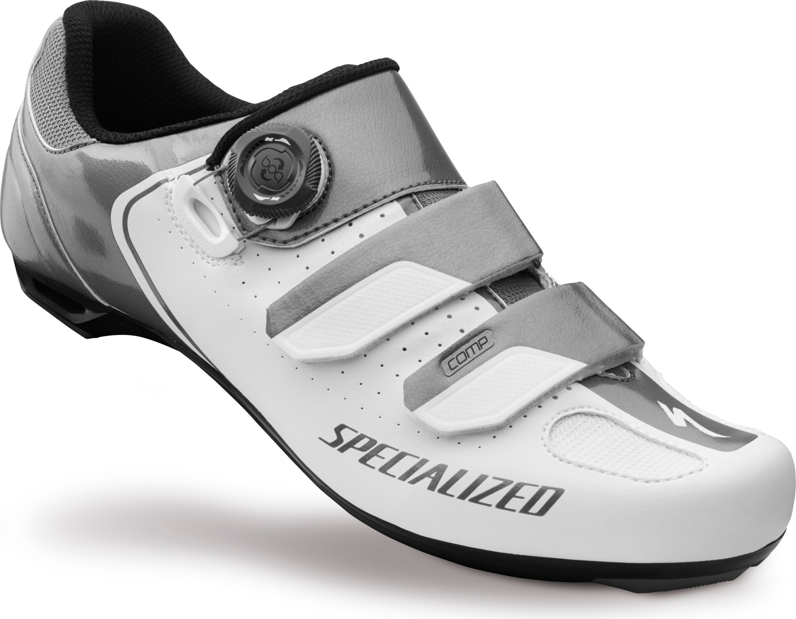 SPECIALIZED COMP RD SHOE WHT/TI 42/9 - Alpha Bikes