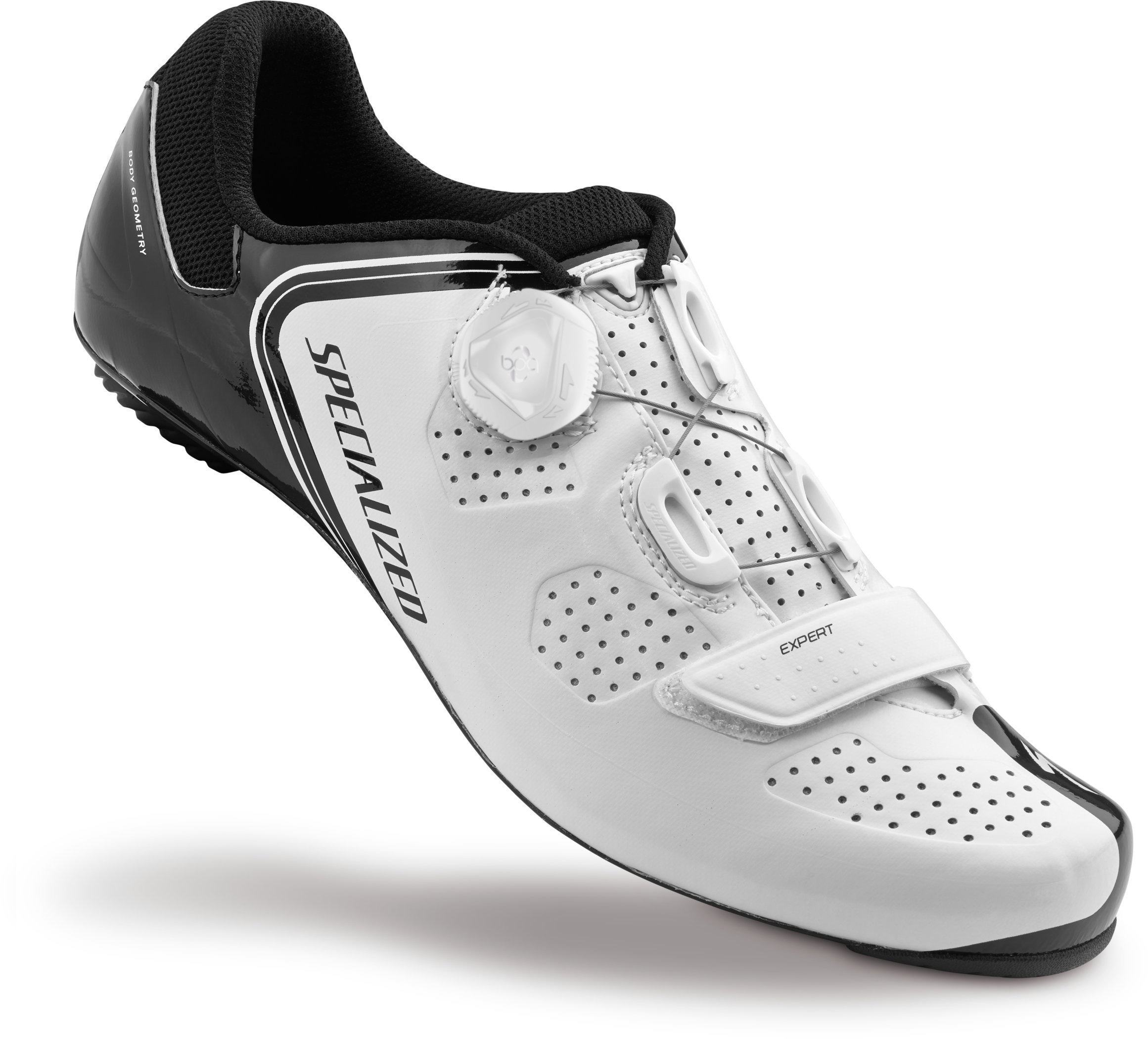 SPECIALIZED EXPERT RD SHOE WHT/BLK 49/14.5 - Bikedreams & Dustbikes