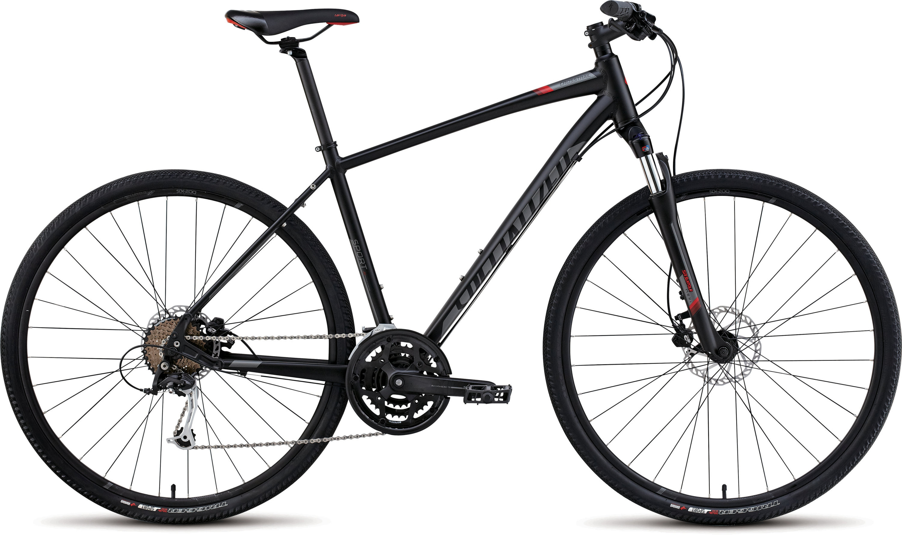 SPECIALIZED CT SPORT DISC BLK/CHAR/RED S - Bikedreams & Dustbikes
