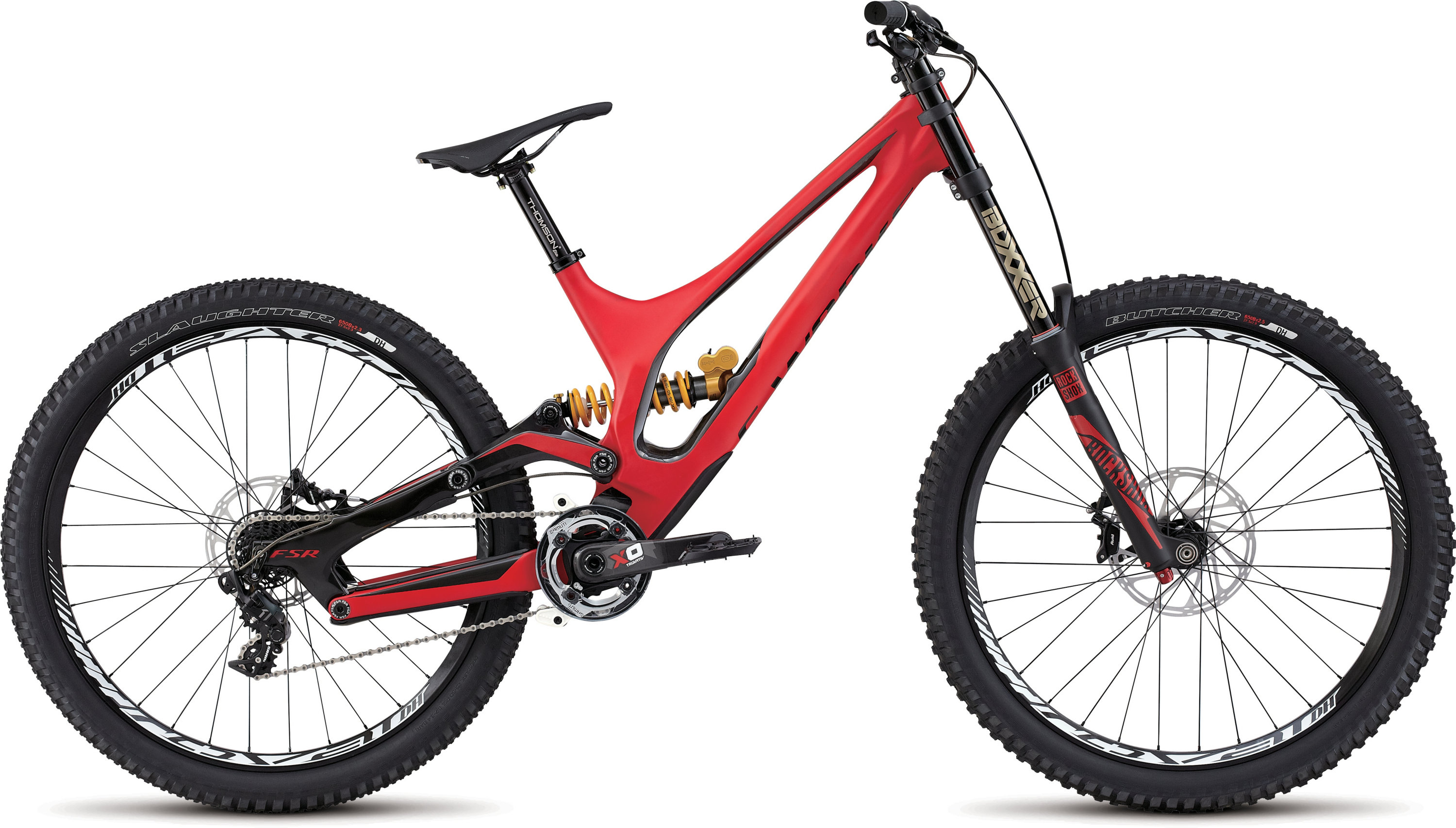 SPECIALIZED SW DEMO 8 FSR CARBON 650B RED/CARB SH - schneider-sports