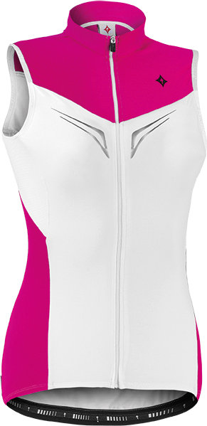 Specialized SL EXPERT WMN SLVLS JERSEY White/Fuchsia XS - Alpha Bikes
