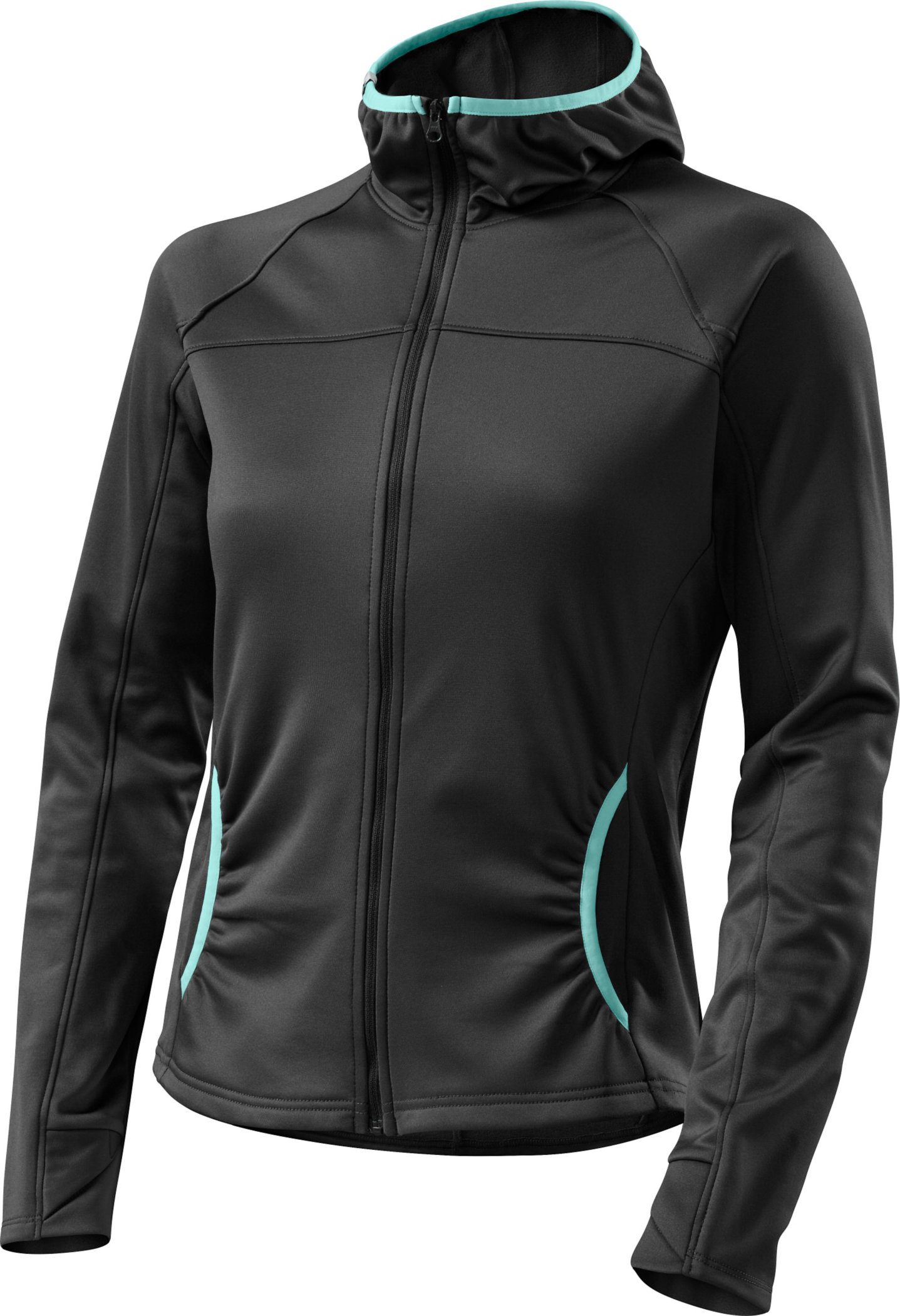 Specialized Women´s Therminal Mountain Jersey Carbon/Teal Large - Alpha Bikes