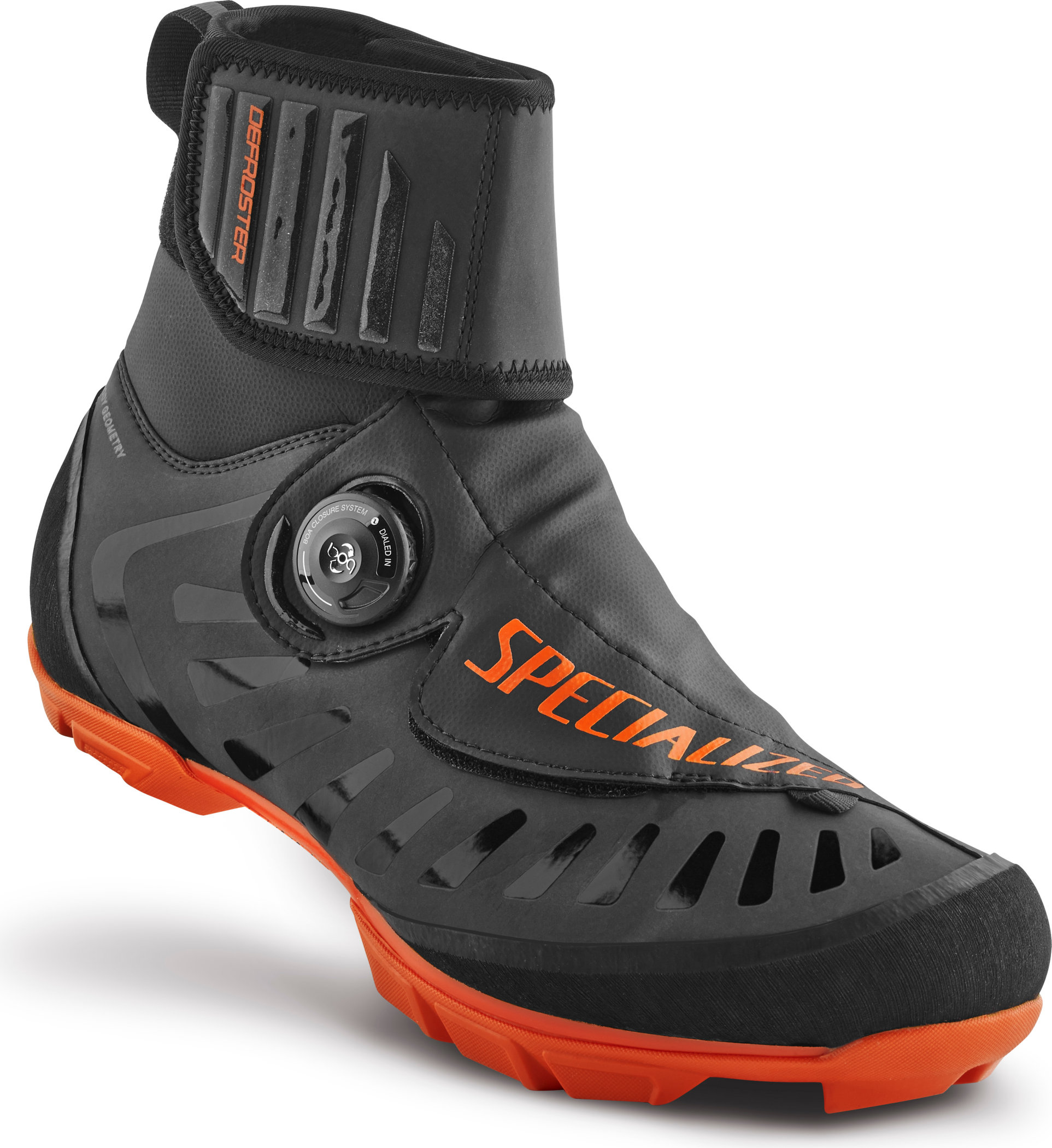 SPECIALIZED DEFROSTER TRAIL MTB SHOE BLK/NEON ORG REFL 36/4.25M/5.75W - Alpha Bikes